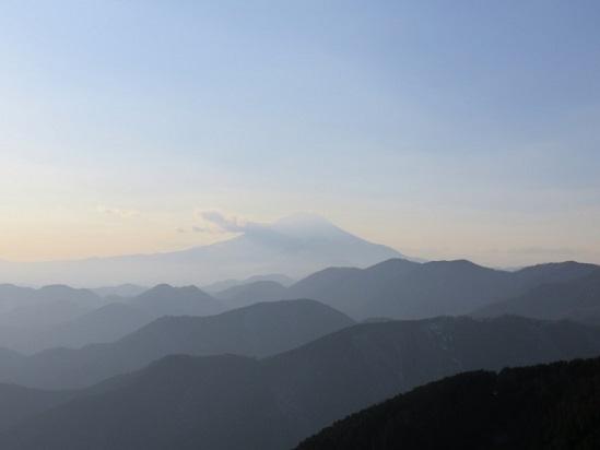 富士山が幻想的
