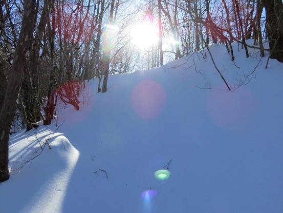 三ツ峠の雪色