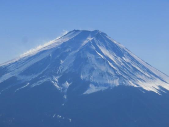富士山の山頂のアップ