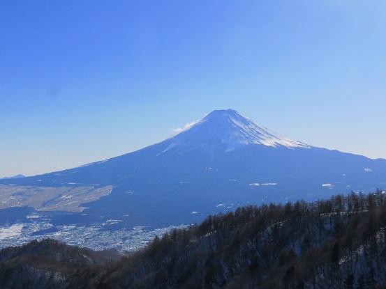 三ッ峠山荘からの富士山が綺麗