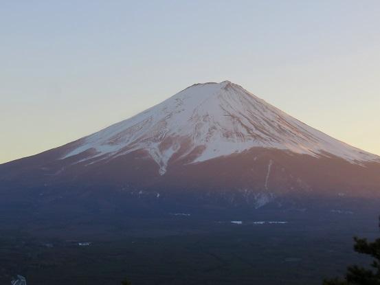 カチカチ山の山頂富士山