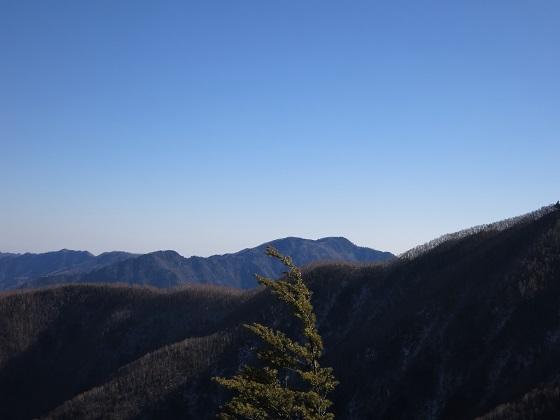 二瀬尾根を和名倉山目指して登っていくと雲取山方面景色