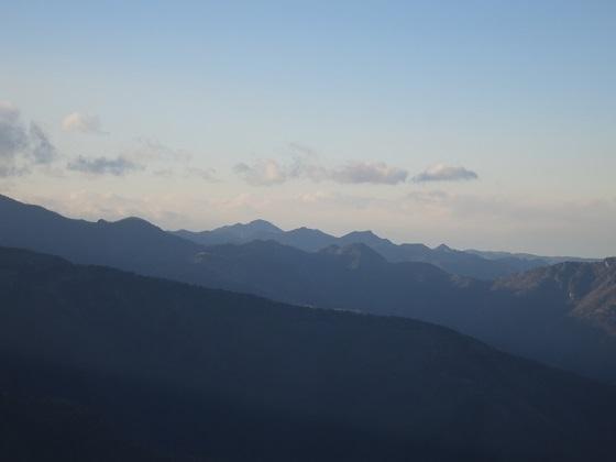 奥秩父から八ヶ岳の景色