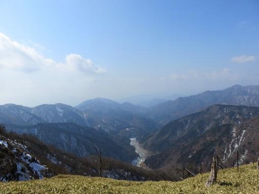 ユーシン渓谷方面の景色