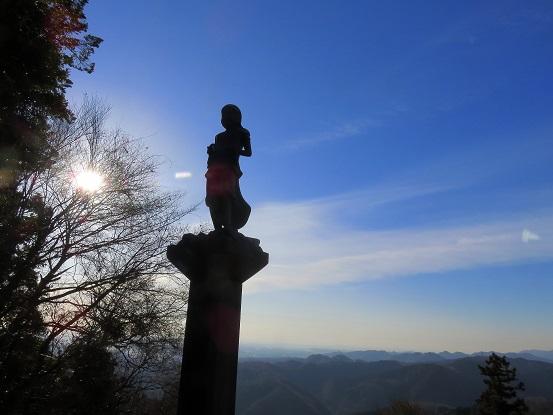 高尾山の天狗と景色