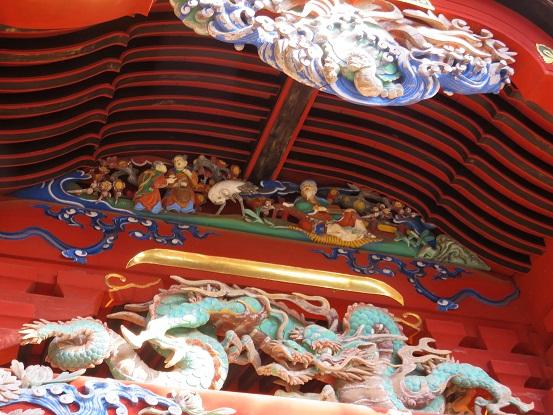 飯縄大権堂の美しい彫刻