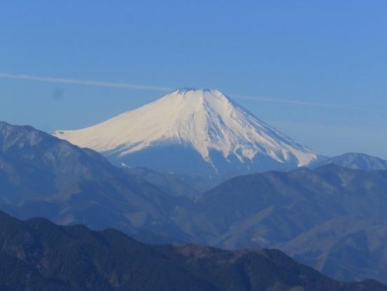 高尾山からの富士山の眺め
