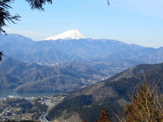 城山からの富士山