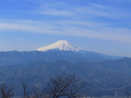 富士山方面の視界