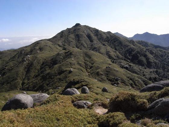 宮之浦岳山頂付近の写真