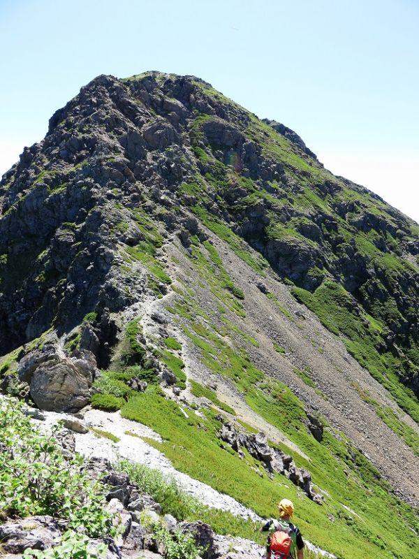 塩見岳西峰の登り