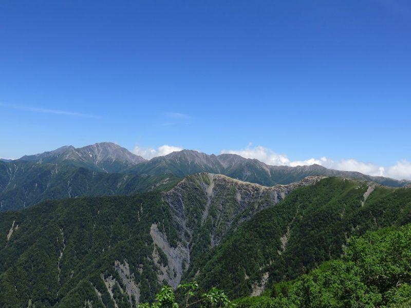 間ノ岳、農鳥岳