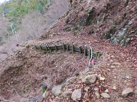 物見峠から煤ヶ谷までは道がかなり悪い
