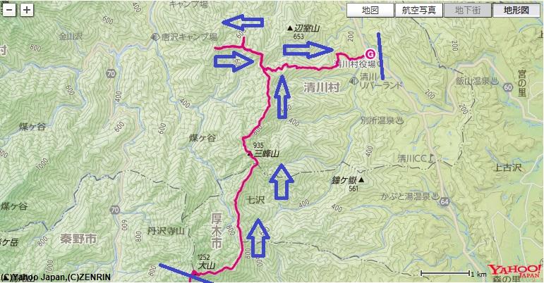 三峰山鍋嵐ルート
