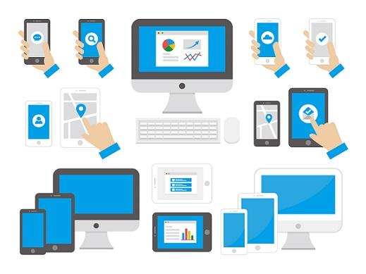 インターネットPC検索、モバイル検索の様子