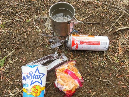湯船山昼食