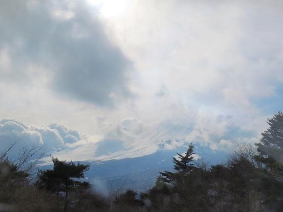 立山展望台からの富士山の景色