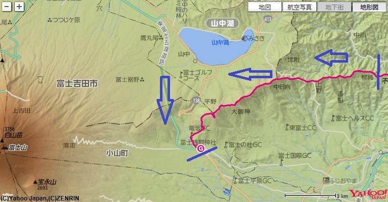 不老山、湯船山、三国山、大洞山コース・標高差