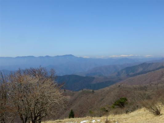 南アルプスの山並大菩薩嶺