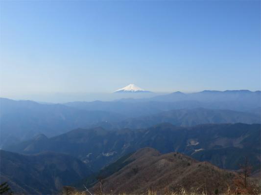 雲取山富士山