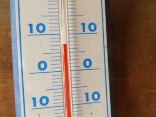 鷹ノ巣山避難小屋の気温