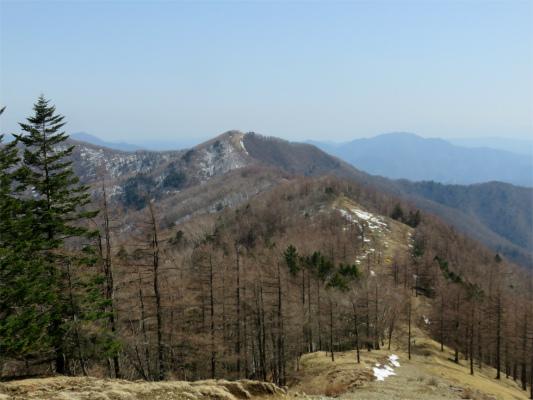 雲取山七ツ石山へ続く石尾根の稜線