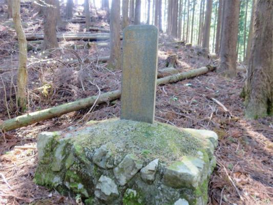 伊勢沢ノ頭南東尾根の植林記念碑