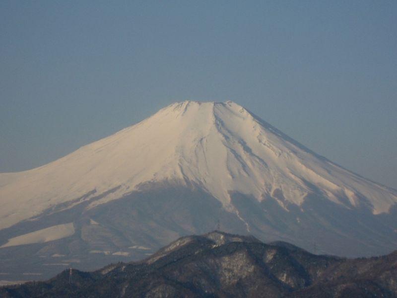 鳥ノ胸山からから富士山アップ