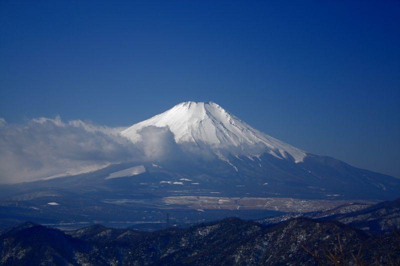 菰釣山からの富士山の景色