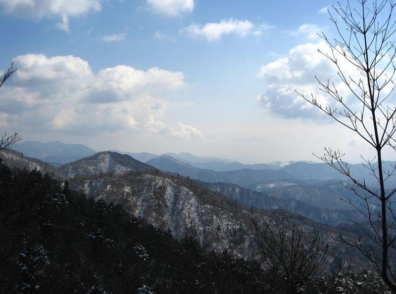 丹沢湖不老山方面
