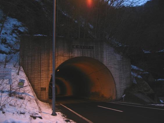 道坂峠トンネル付近