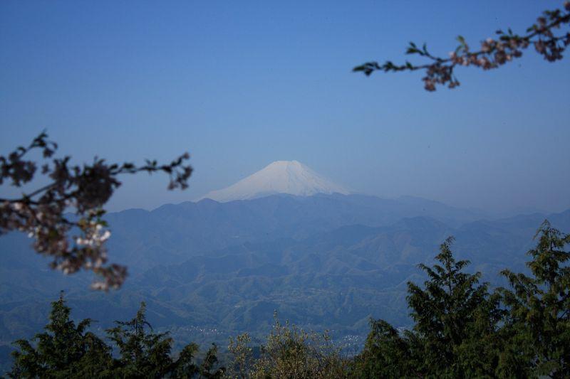 明王峠からの富士山