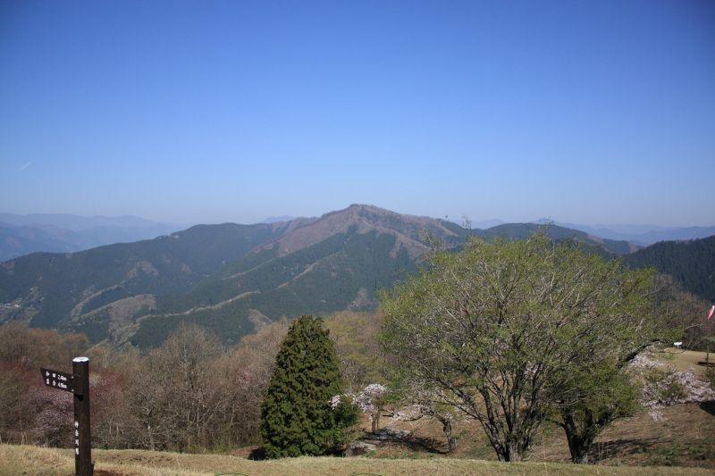 陣馬山連行山方面