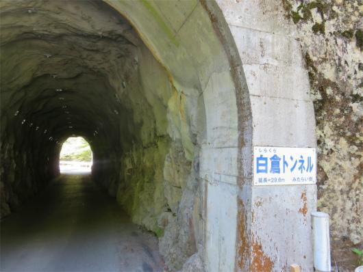 素掘りの白倉トンネル