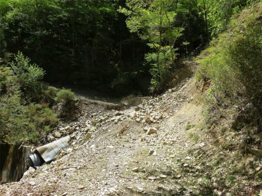 林道が崩落