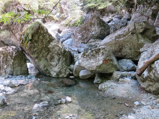 双門ルート岩場