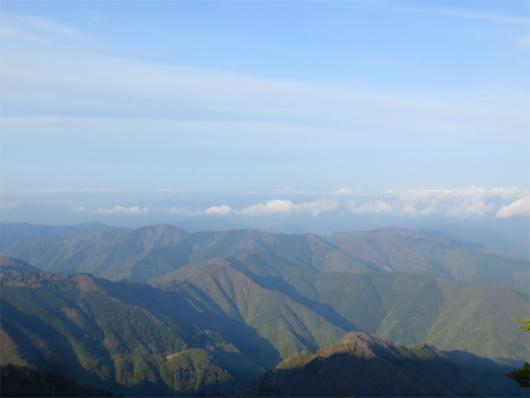 熊野の山並み