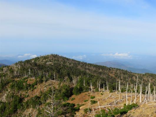 八経ヶ岳から弥山n