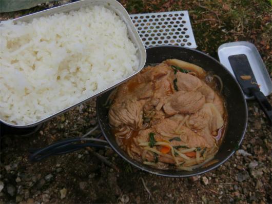 メスティン米炊く