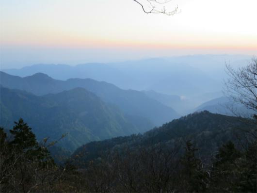 大峯山朝の景色