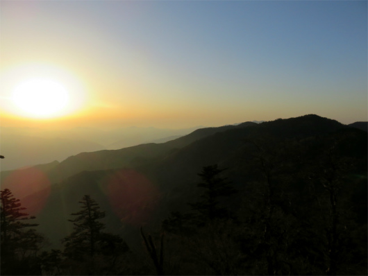 山上ヶ岳からのご来光