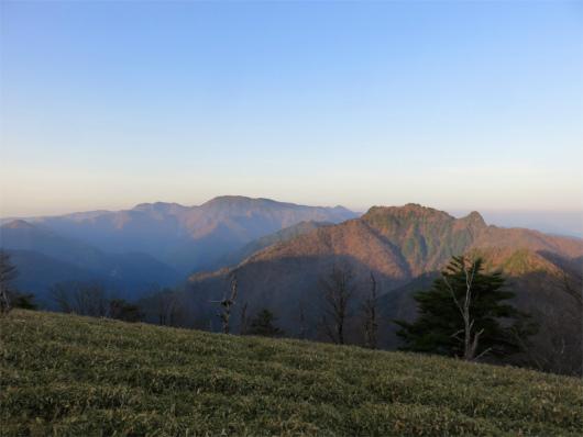 山上ヶ岳の山頂からの景色