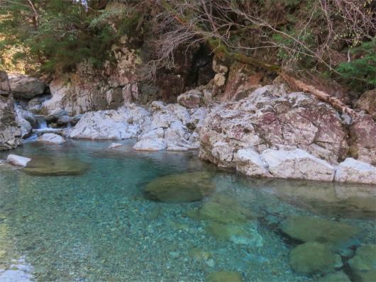 双門の滝弥山川