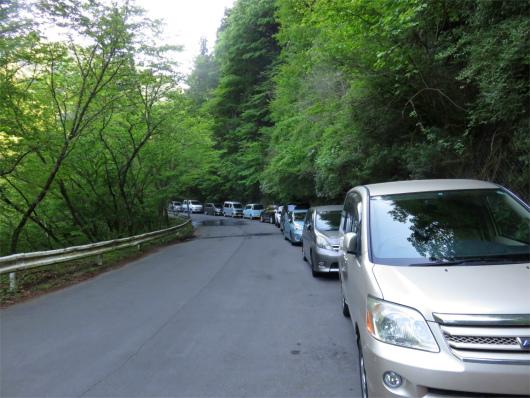 塩水橋周辺の駐車スペース