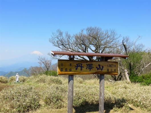 丹沢山の山頂
