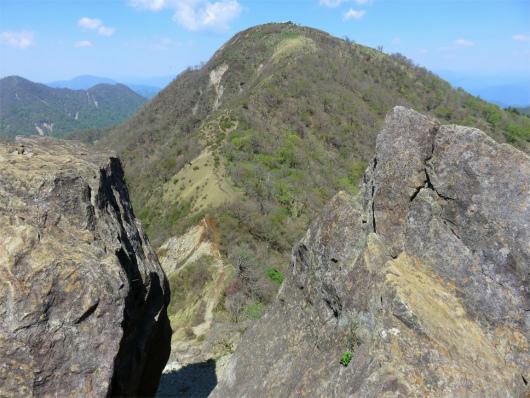鬼ヶ岩からの蛭ヶ岳