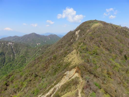 蛭ヶ岳山頂直下の急登