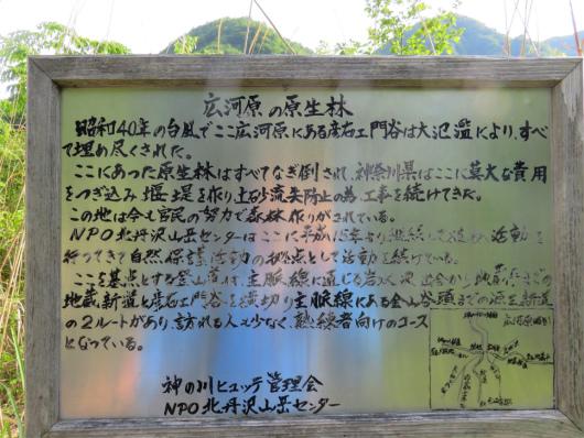 広河原「地蔵尾根、「源蔵尾根」看板