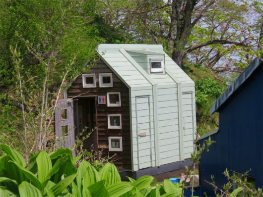 青ヶ岳山荘有料の公衆トイレ
