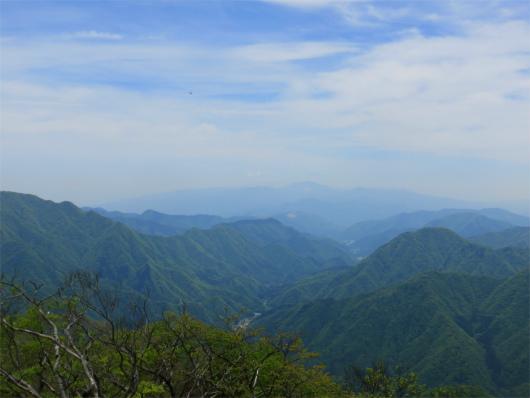神ノ川ヒュッテ方面の景色